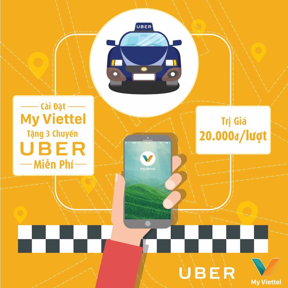 Cài my viettel - đi uber miễn phí