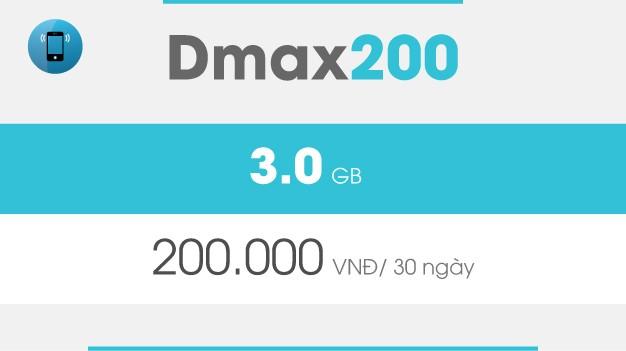 Gói 3G Dmax200