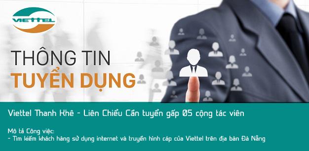 Viettel Đà Nẵng tuyển dụng CTV bán hàng