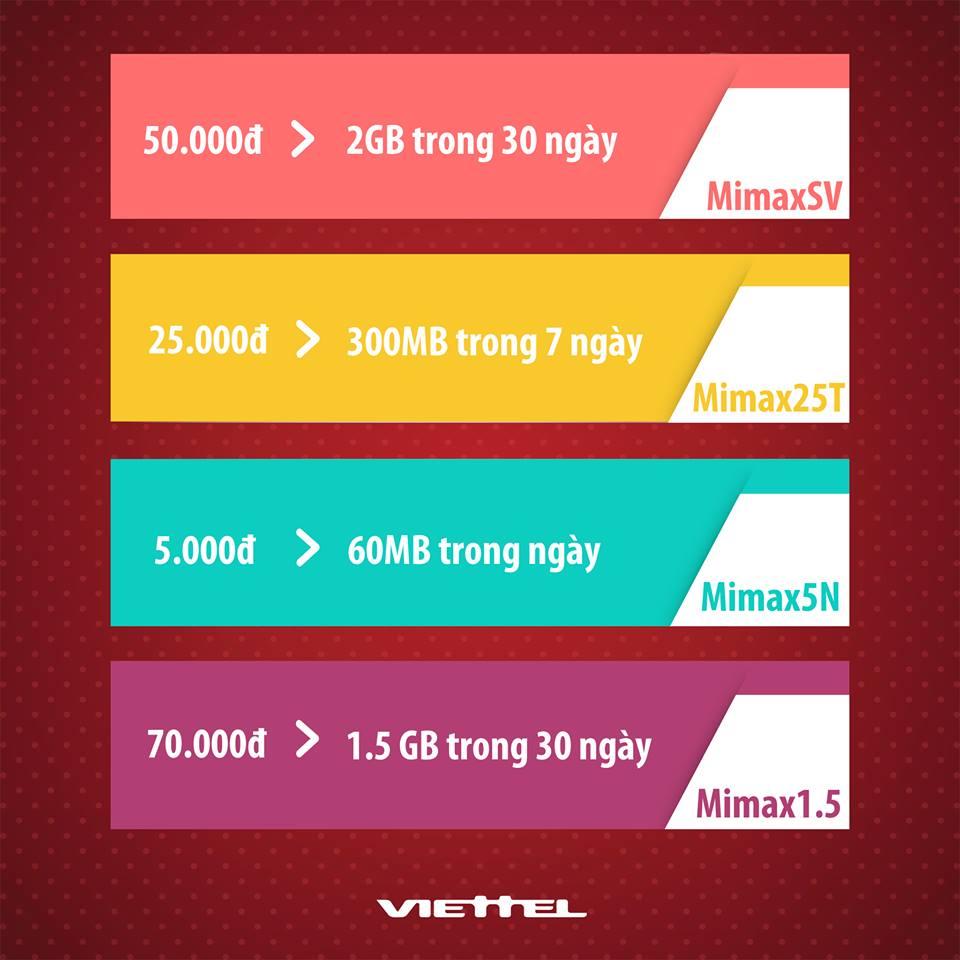 Cú pháp Đăng ký Mimax 3G Viettel